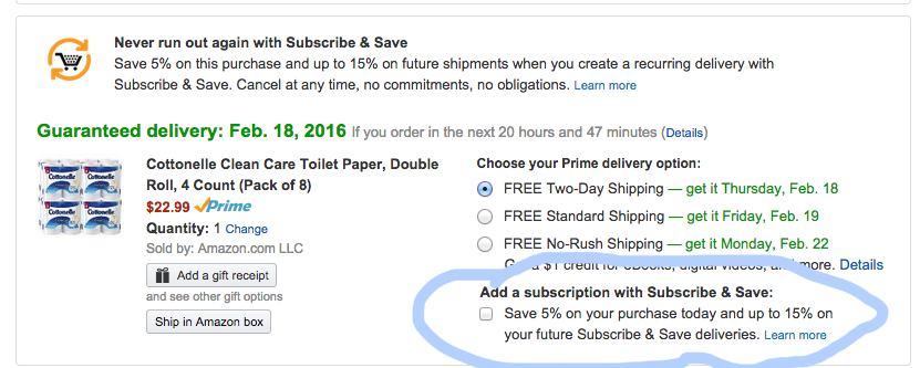 Yes, You Can Combine Amazon Subscribe & Save With Free 2-Day