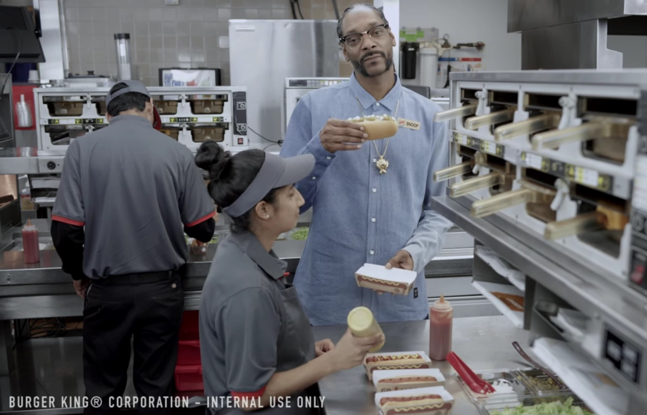 Of Course Everyone Wanted To See Burger King's Hot Dog Training Video Starring Snoop Dogg