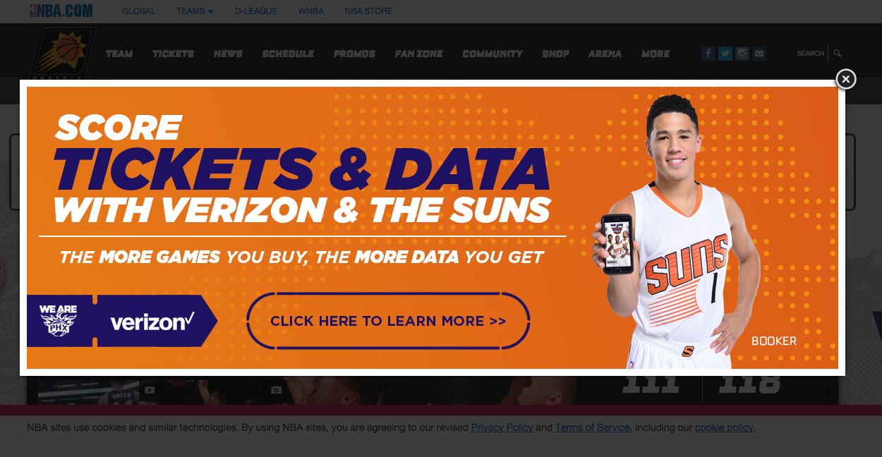 Phoenix Suns Trying To Lure Fans By Offering Free Verizon Data With Each Game Ticket
