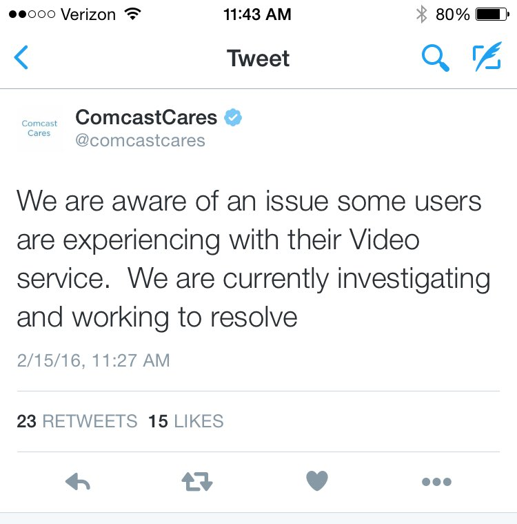 It S Not Just You Comcast Is Having A Nationwide Outage Today Consumerist