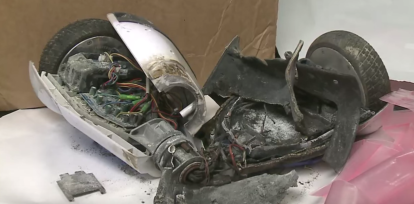 This is a hoverboard tested by the Consumer Product Safety Commission.
