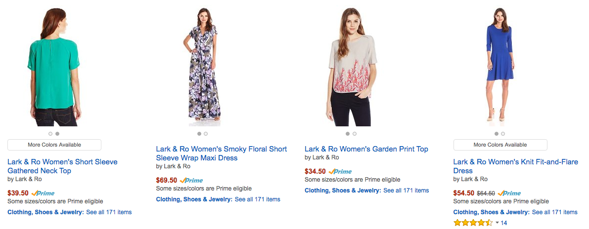 Amazon Now Selling Clothing Under Its Own In-House Brands