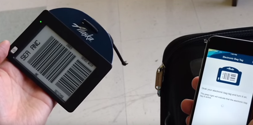 Alaska Airlines Testing Electronic Baggage Tags With Some Passengers, Crew