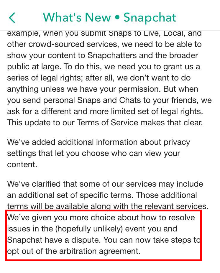 You Can Now Opt Out Of Snapchats Arbitration Clause Heres How