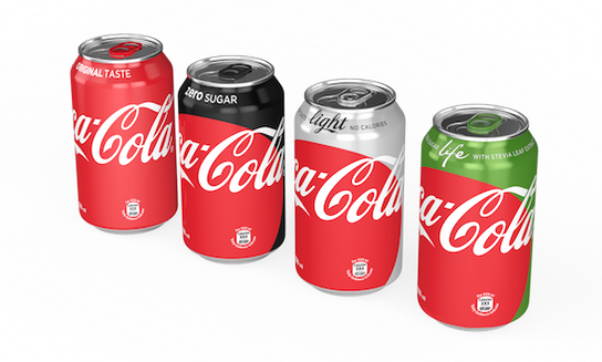 "Coca-Cola Giving Its Bottles & Cans A Makeover With New ""One-Brand"" Design"