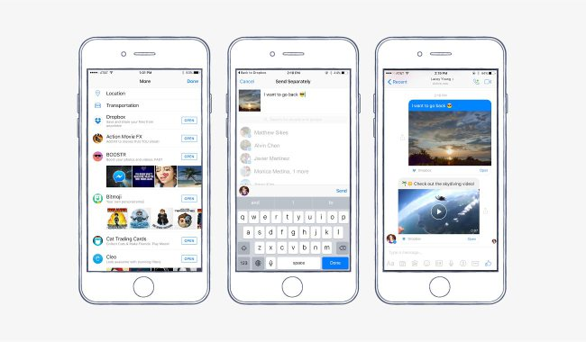 Facebook Partners With Dropbox To Allow Users To Share Files Through Messenger