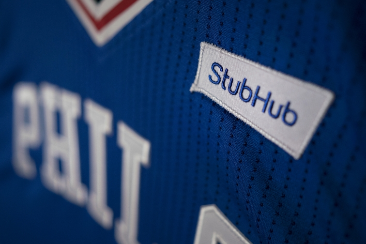 StubHub Becomes First NBA Jersey Advertiser, Thanks To 76ers