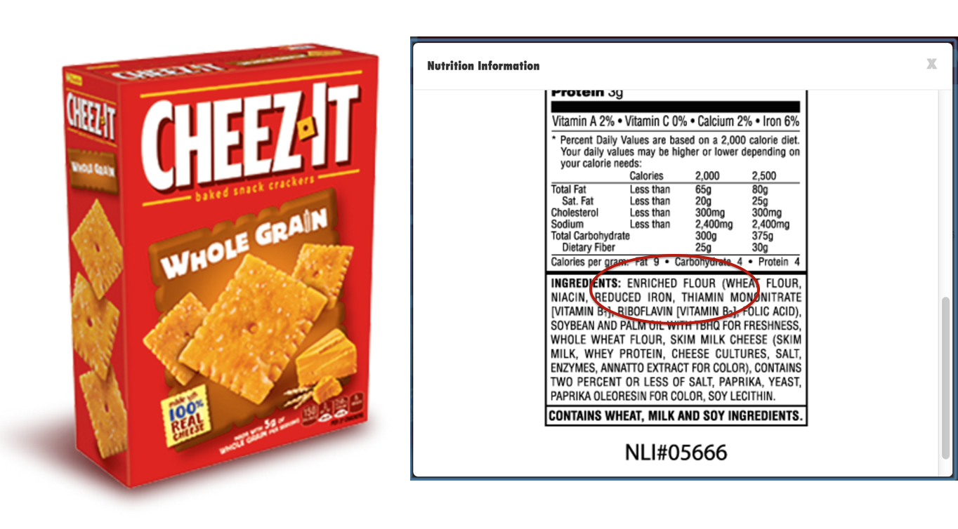"Lawsuit Accuses Cheez-It Of Falsely Advertising ""Whole Grain"" Crackers"