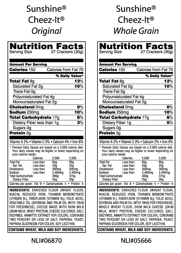 Cheez It Nutrition Facts Label - Ythoreccio