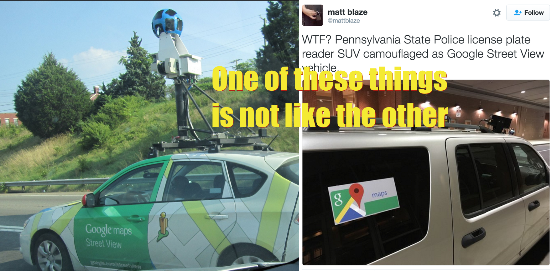 "Police Tried To Disguise Surveillance Vehicle As ""Google Maps"" Truck"