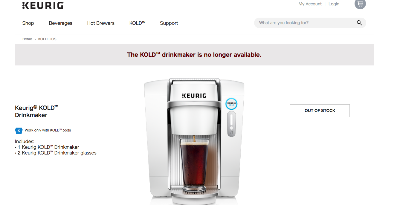 Keurig Killing Kold Soda Machine After Less Than A Year On The Market, Will Offer Customers Full Refunds