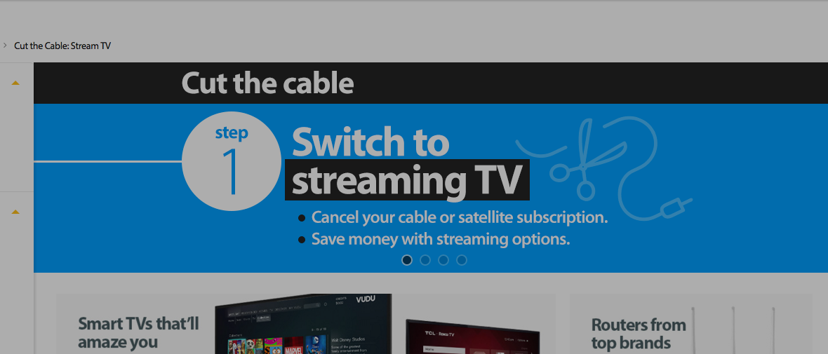 "Walmart Urging Customers To ""Cut The Cable"" With Promo"