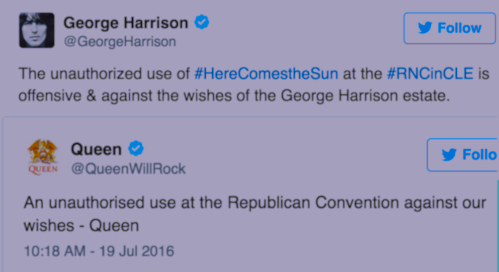Why Queen & George Harrison's Estate Probably Can't Sue Over Having Their Songs Played At RNC