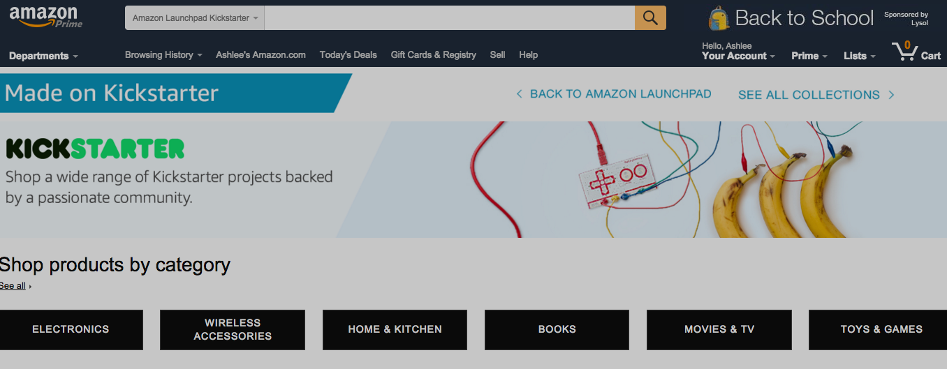 Amazon Adds Kickstarter Products To Launchpad Store
