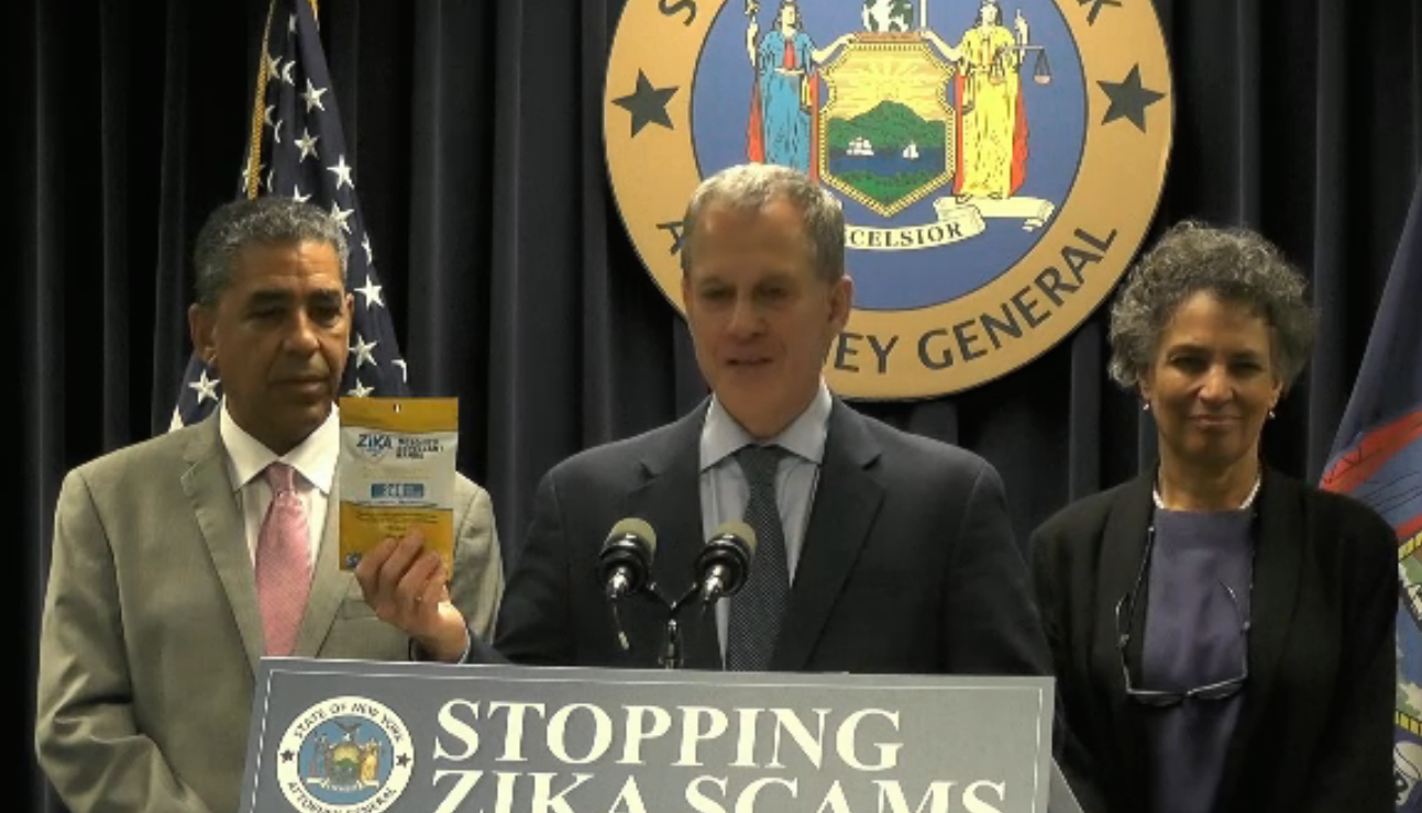 New York AG Going After Companies Shilling Ineffective Zika Prevention Products