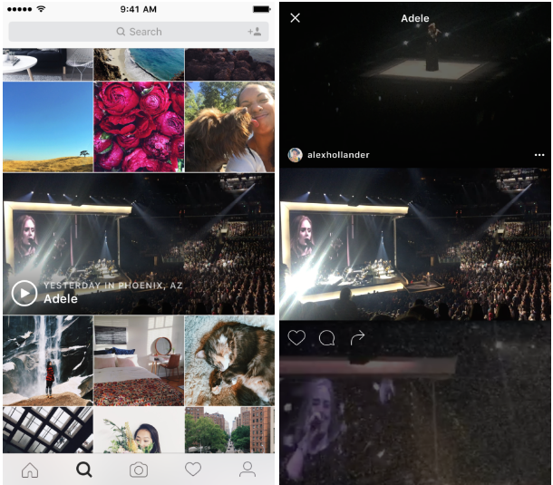 "Instagram Launching Live ""Events"" Video Channel"