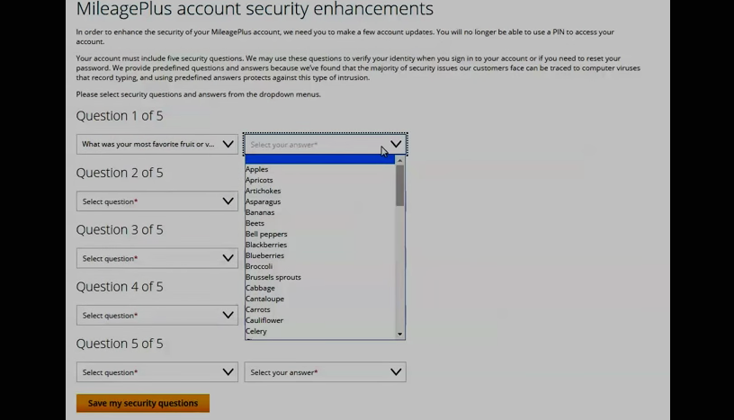 United Airlines Updates Login Protections With Pre-Selected Security Question Answers