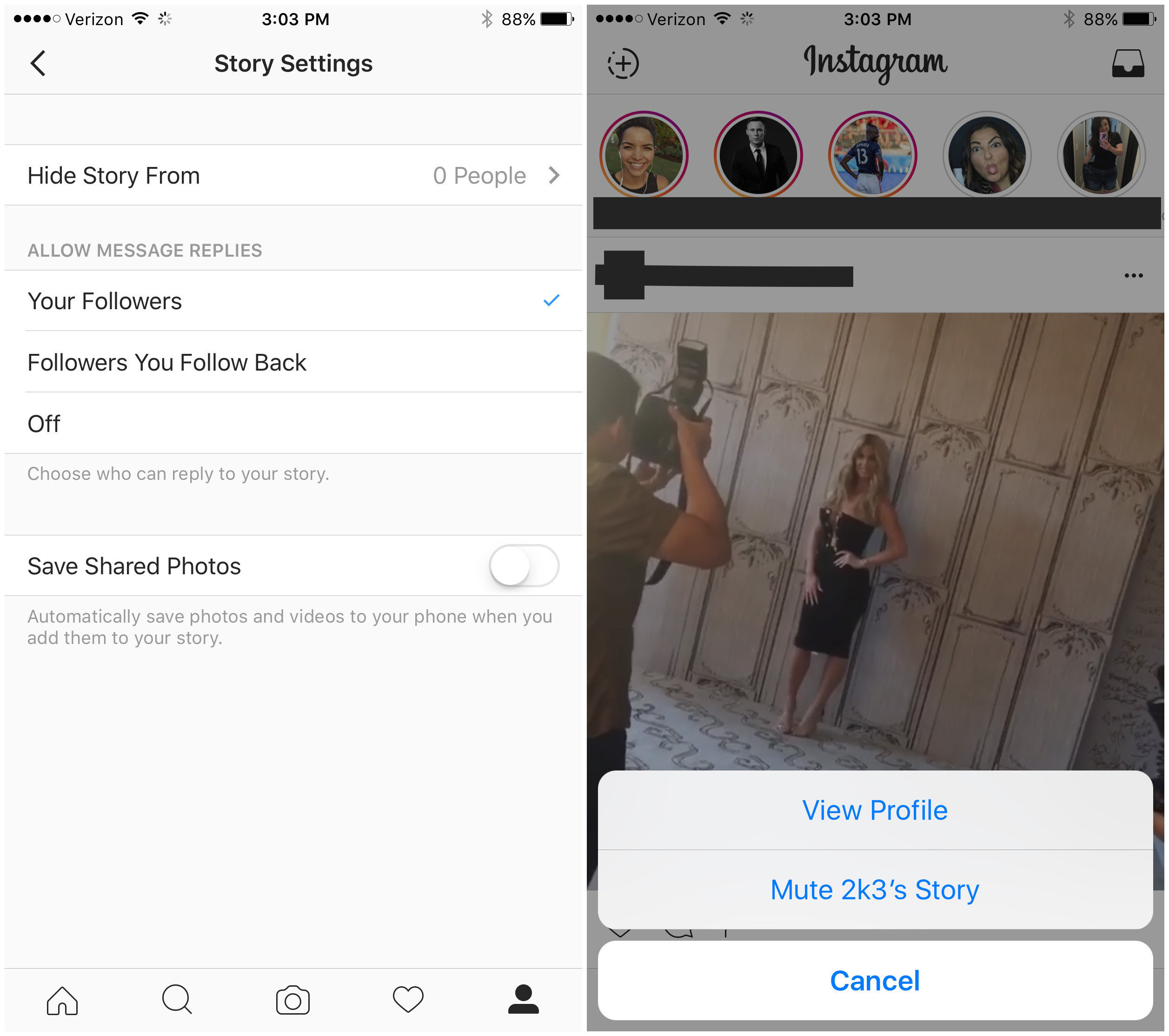 Instagram now lets users auto save content mute others stories instagram stroies ccuart Images