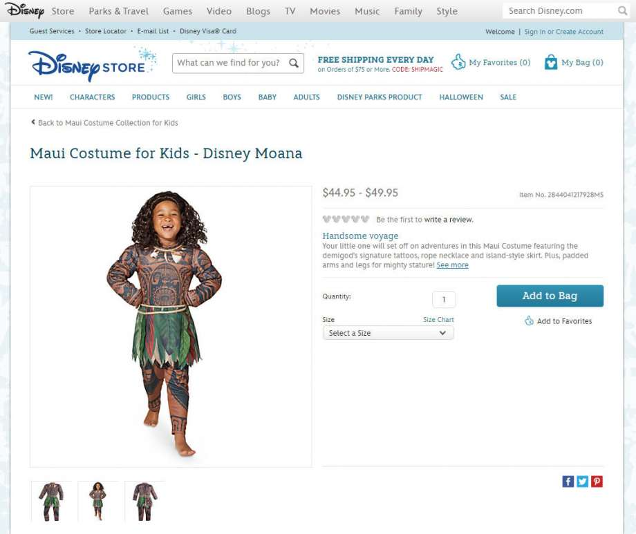 disney pulls moana polynesian costume amid claims its offensive consumerist