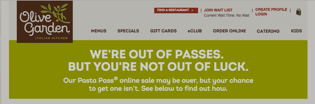 Olive Garden Already Sold All 21,000 Unlimited Pasta Passes
