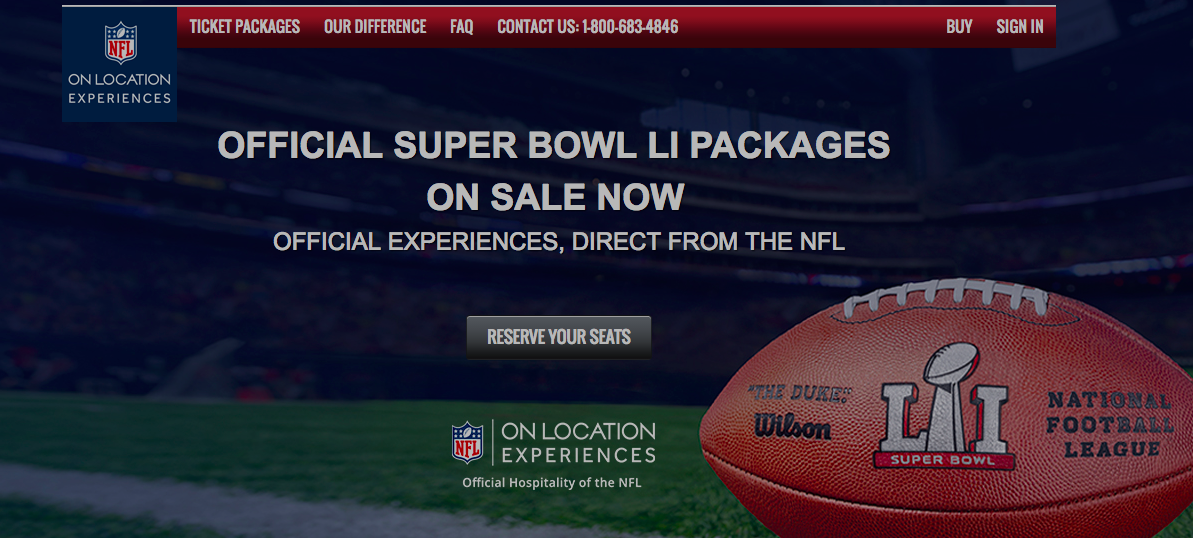 Football Fans Have Direct Access To Super Bowl Tickets For The First Time; Prices Start At $5,500
