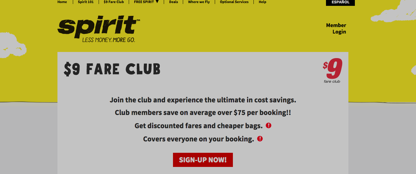 "Be Careful When You Cancel Your Spirit ""$9 Fare Club"" Membership"