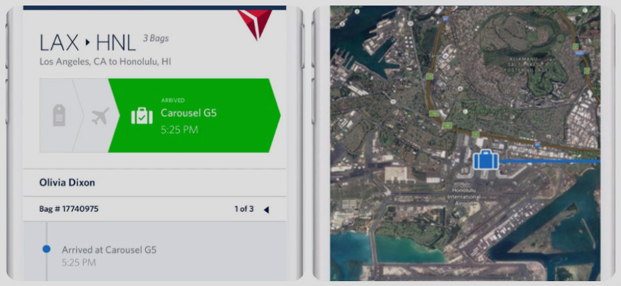 Delta App Update Allows Travelers To Track Their Checked Bags On A Map