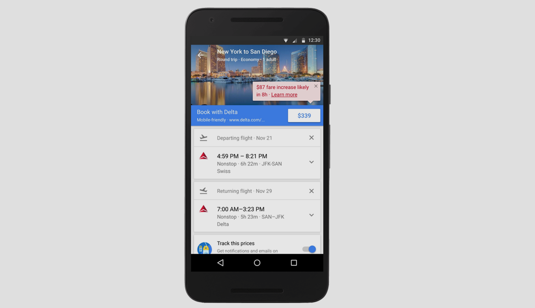 Google Flights Will Now Alert Users When Airfares Are About To Expire