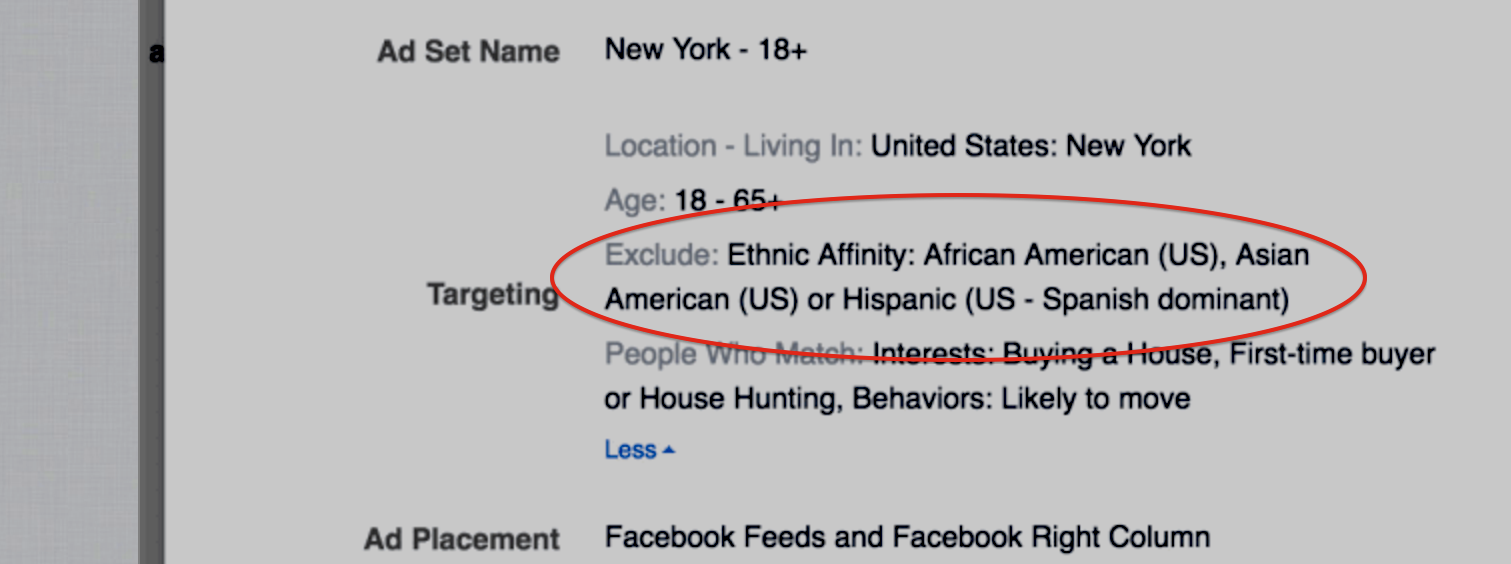 "Facebook Tweaks Its ""Ethnic Affinity"" Advertising Feature To Address Discrimination Concerns"