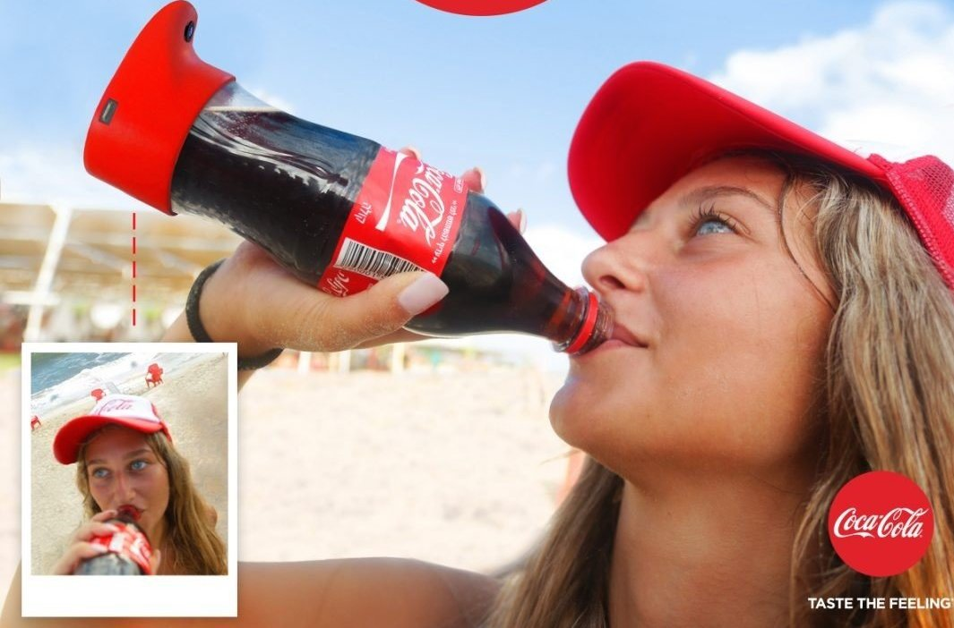 "Coca-Cola Thinks You Might Want A ""Selfie Bottle"" To Take A Pic While You Guzzle Soda"