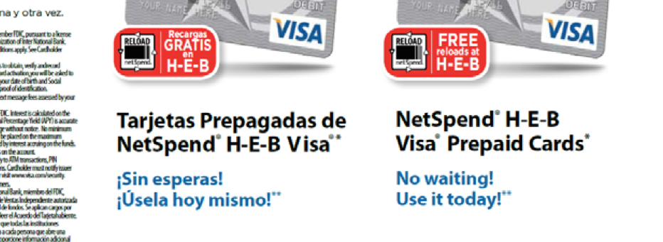 likewise this ad promises customers they can get their government benefits on the card with no holds no waiting - Netspend Prepaid Card