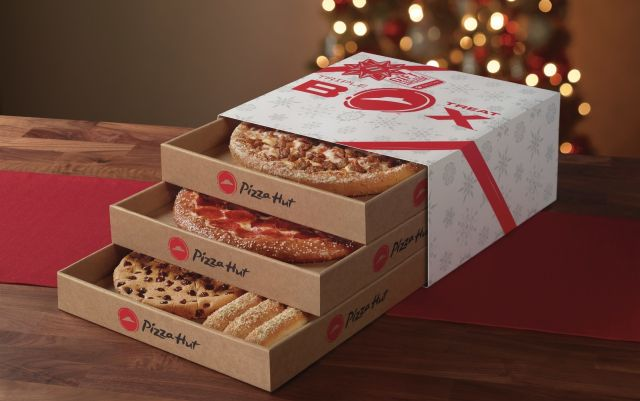 Pizza Hut Brings Back Cardboard Pizza Dresser For The Holidays