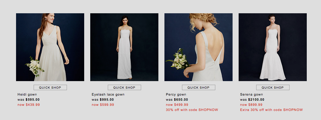 J Crew Decides Trying To Sell Wedding Dresses Wasnt Such A Great Idea