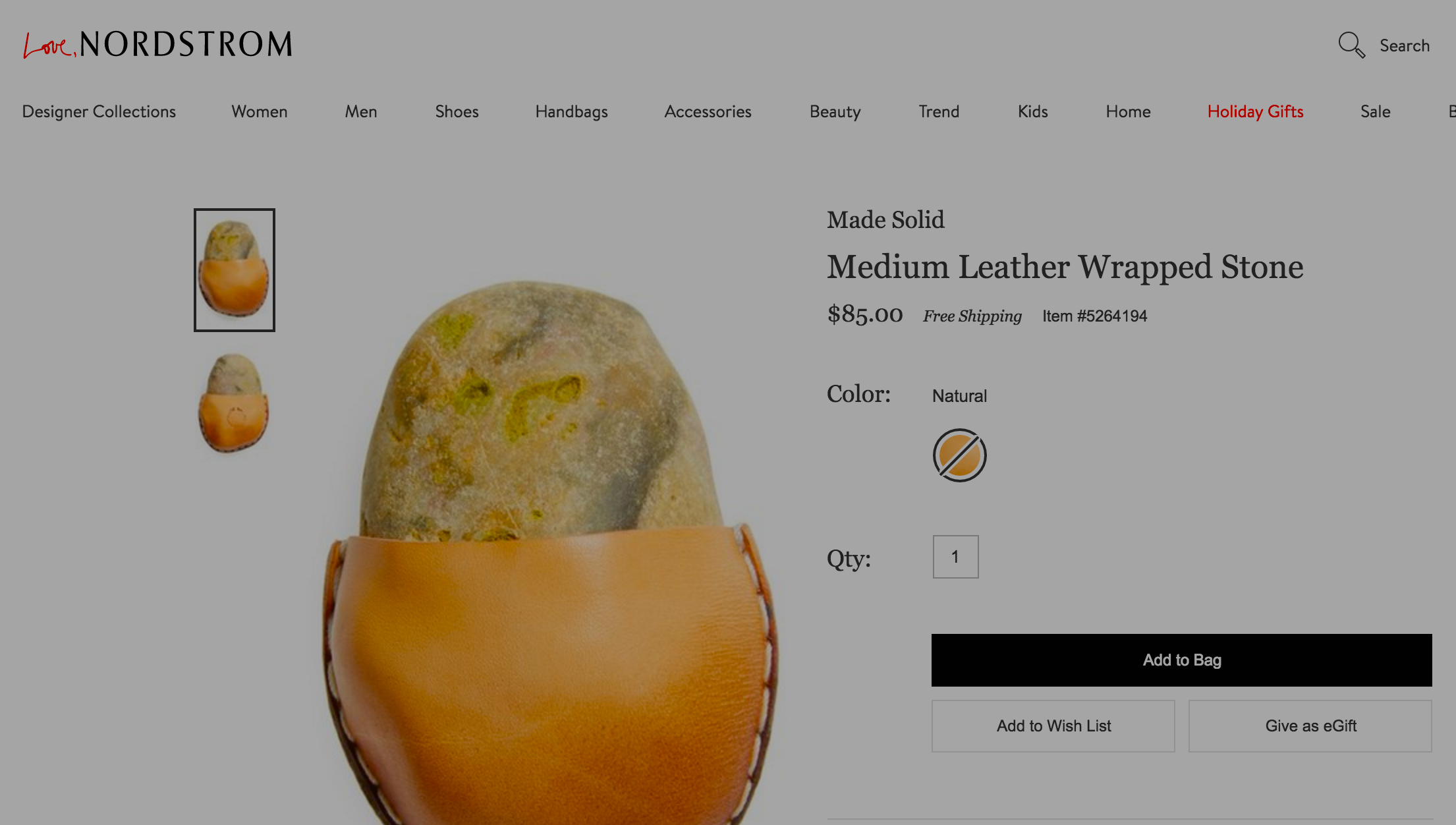 "Nordstrom's $85 ""Leather Wrapped Stone"" Makes Us Wonder: Can You Tell Real Gifts From Fakes?"