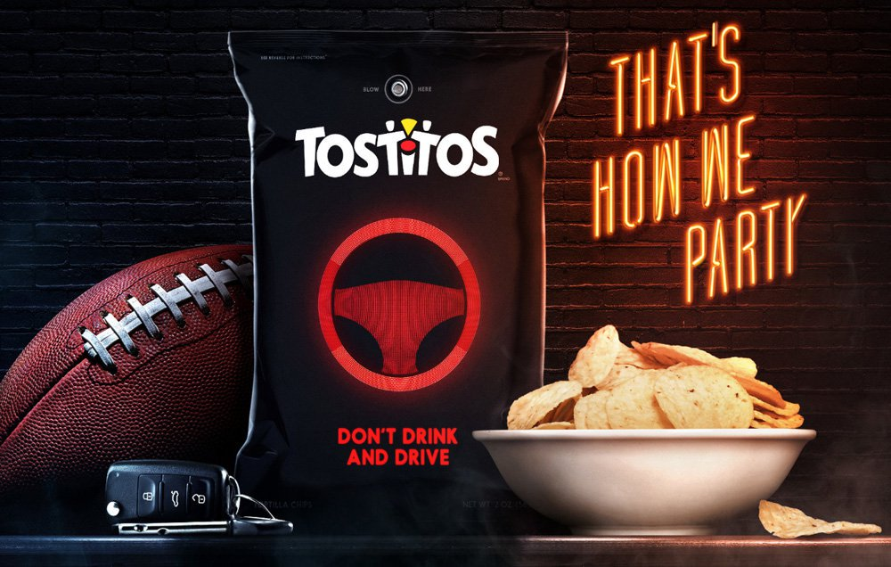 Tostitos 'Party Safe' Bags Will Detect If You've Been Drinking; Help You Call Uber