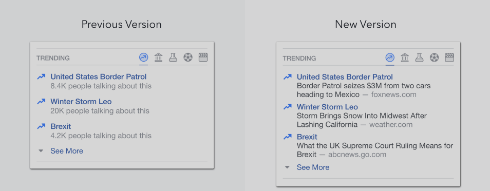 "Facebook's ""Trending Topics"" Will Now Be The Same For Everyone Nearby, List Story's Publisher"