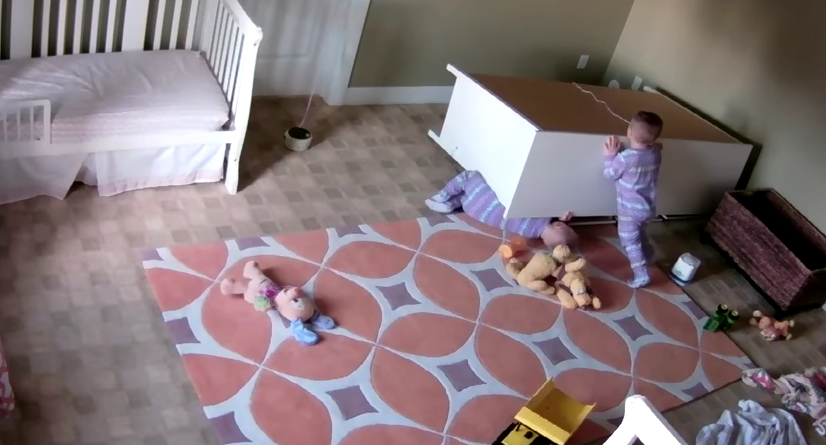 Video Of Dresser Falling On Toddler A Reminder To Always Secure Furniture