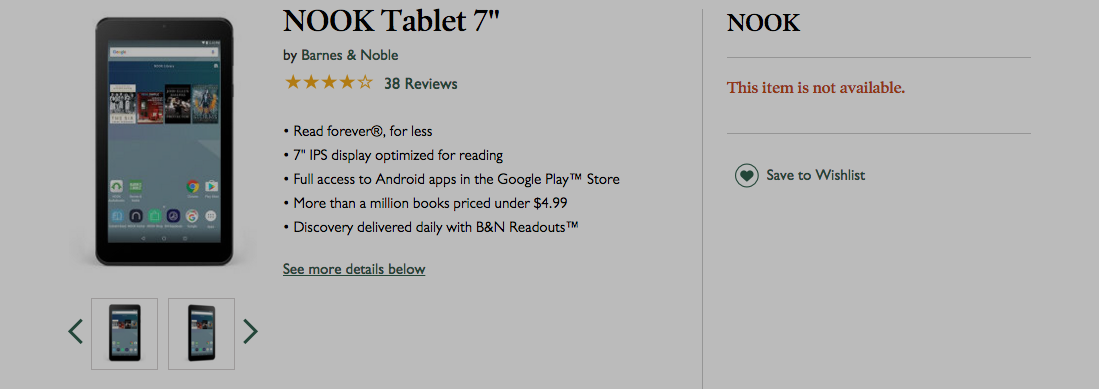 Barnes & Noble Pulls Latest Nook Over Faulty Charger