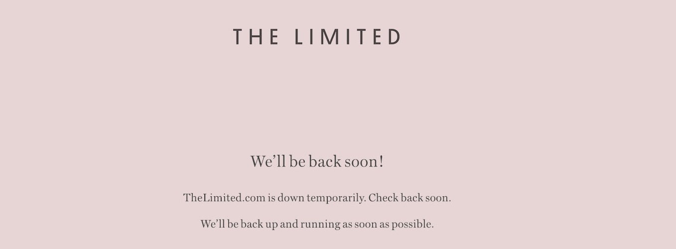 The Limited Files For Bankruptcy, Shutters Online Store (For Now)
