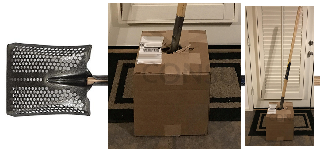 "When This Company Ran Out Of Shovel-Sized Boxes, It ""Got Creative"""