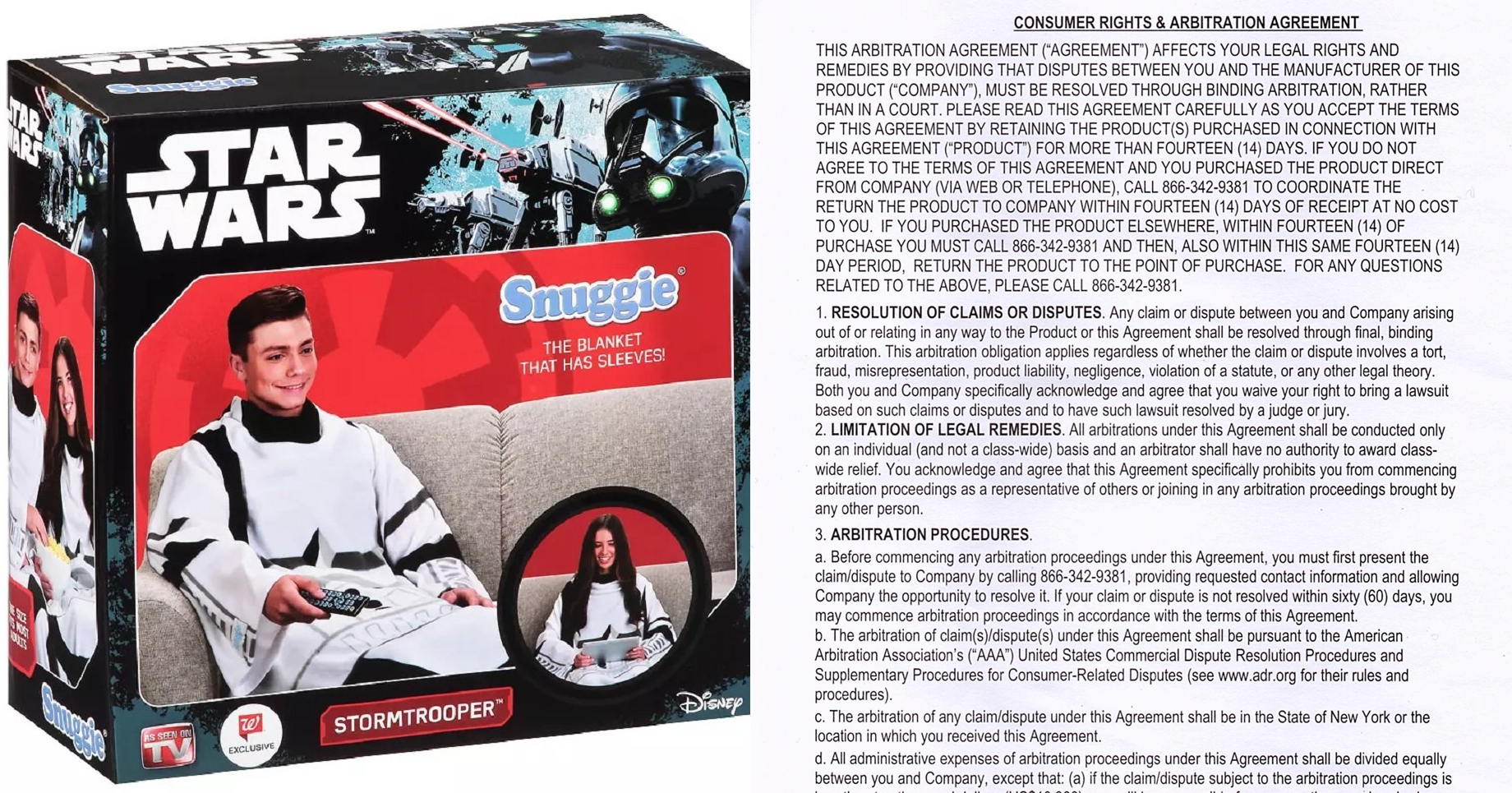 Your New Stormtrooper Snuggie Comes With A Surprise: It Strips You Of Your Right To File A Lawsuit
