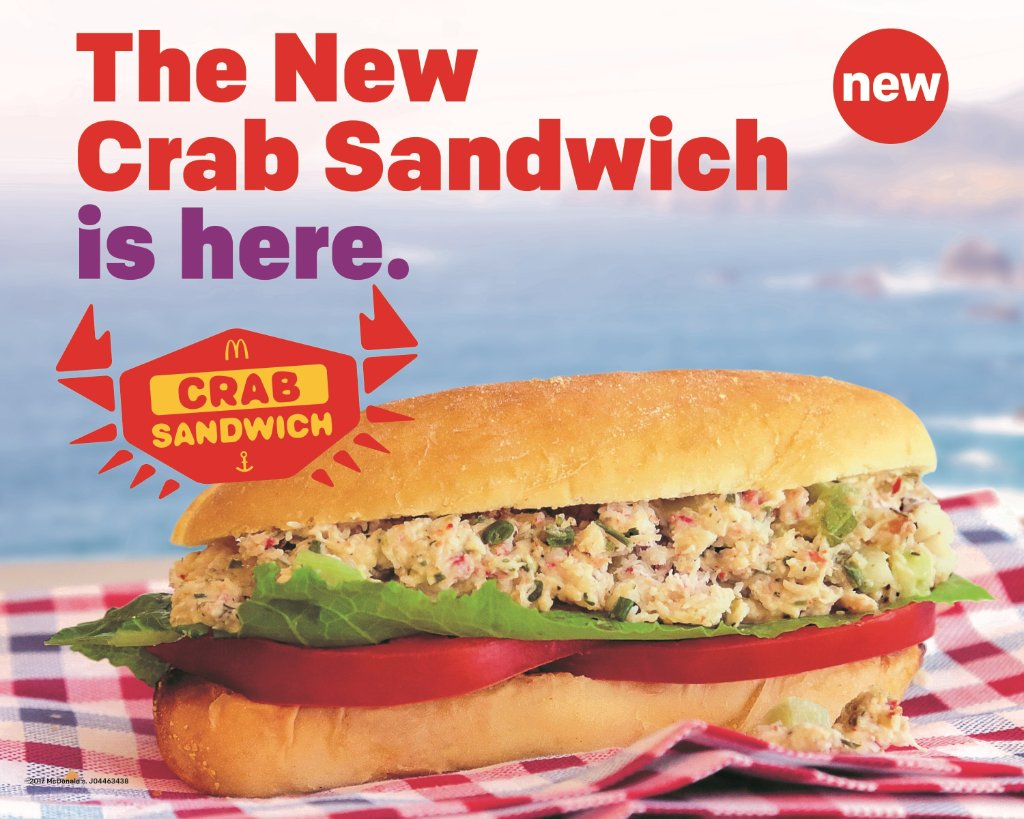McDonald's Is Beta Testing A Crab Sandwich In Silicon Valley