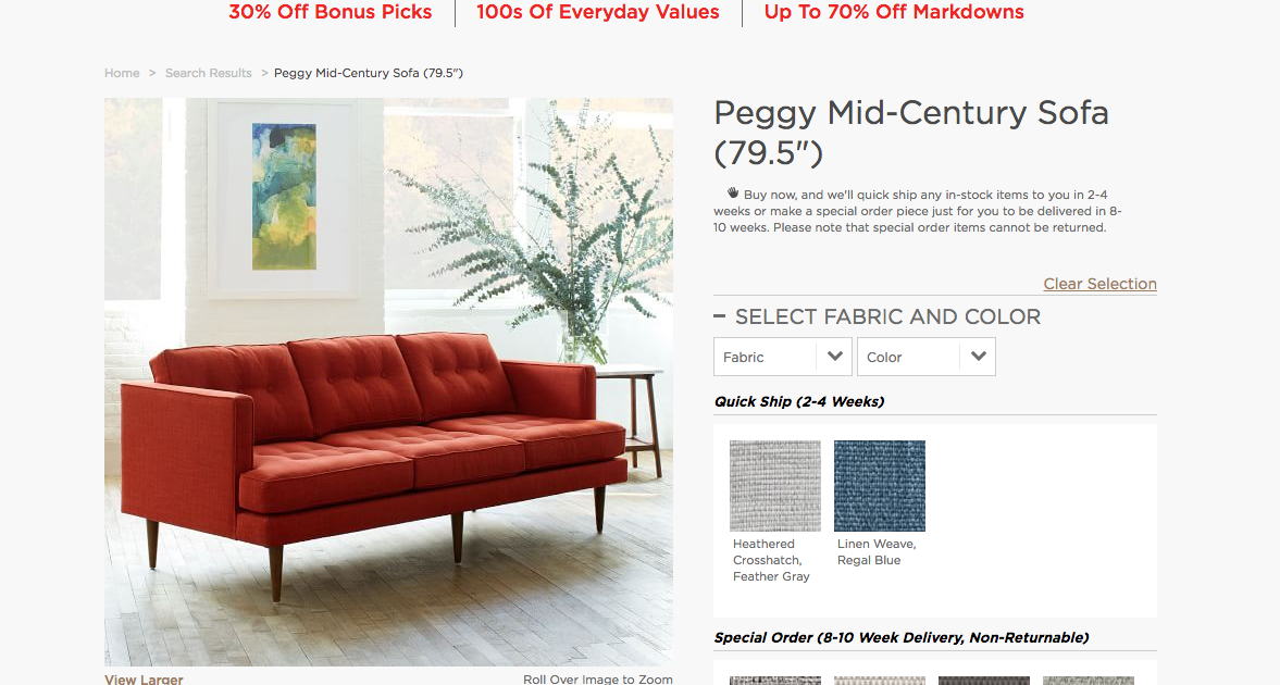 West Elm Will Offer Refunds To Owners Of Defective U201cPeggyu201d Furniture U2013  Consumerist