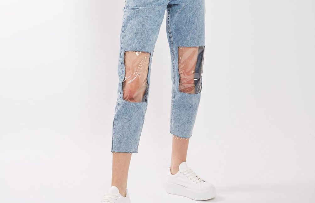 Twitter Disapproves Of Your $95 Mom Jeans With Clear Plastic Knee Windows