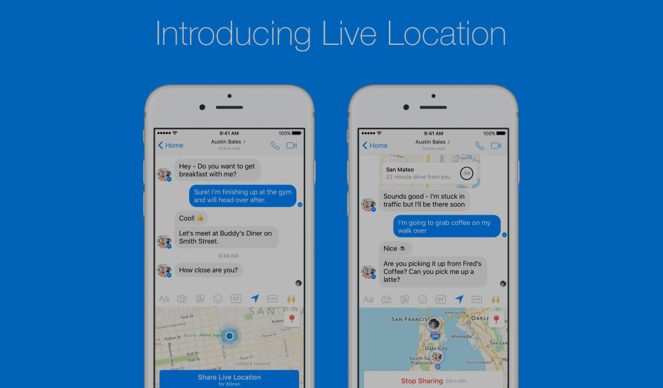 Facebook Messenger Adds Option To Share Your Location Live With Friends