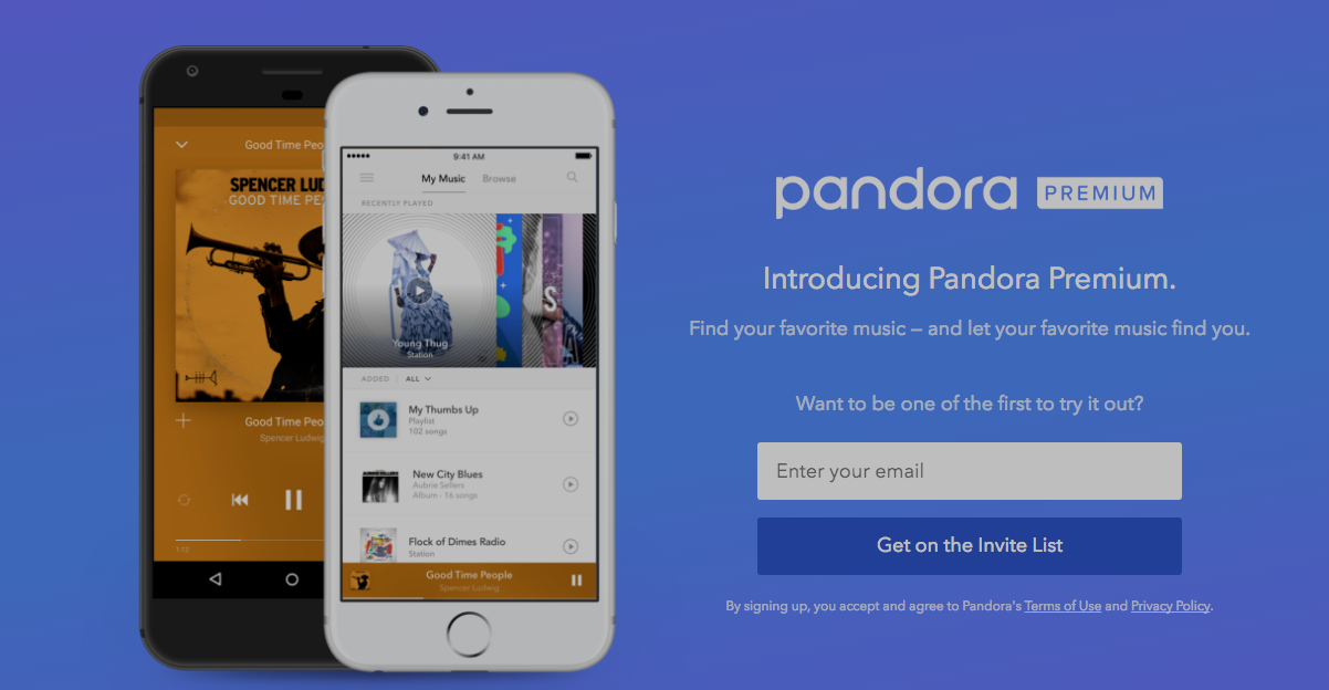 Pandora Launches $10/Month Premium Tier As Expected