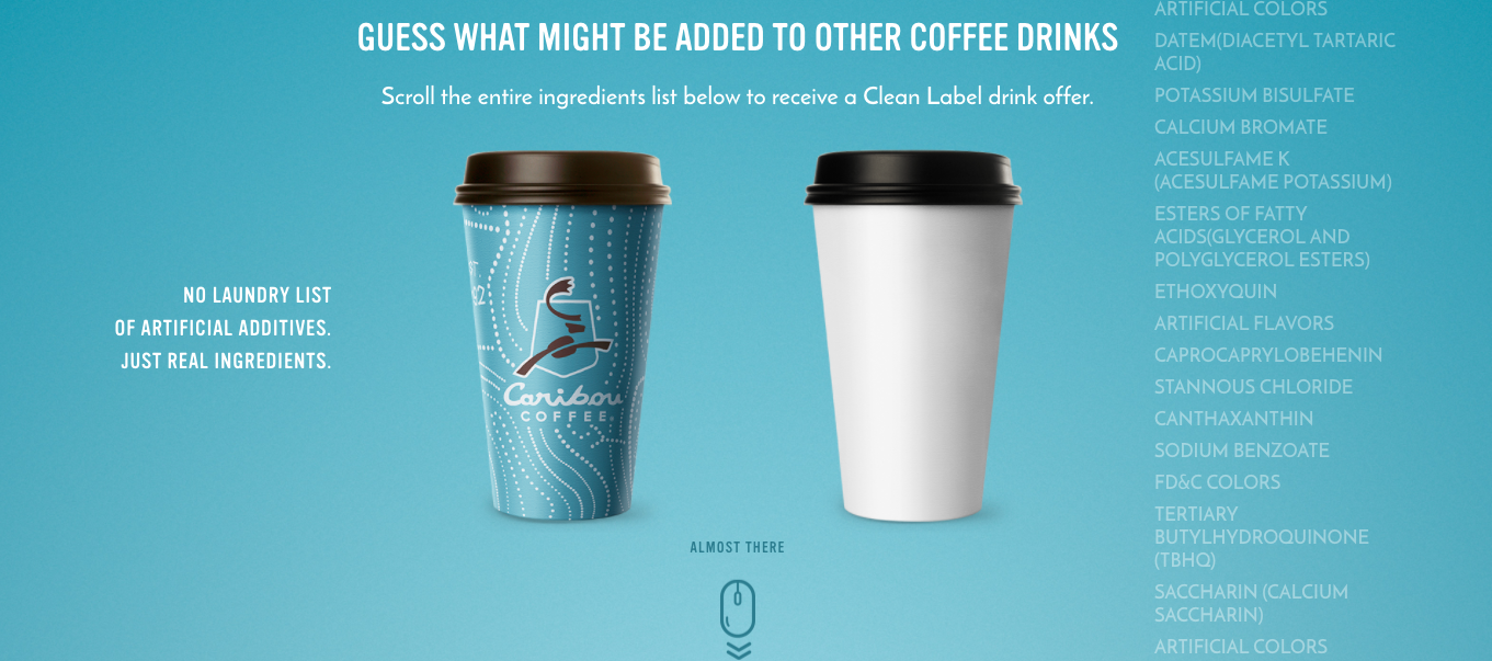 Caribou Coffee Cutting Artificial Ingredients From Beverages