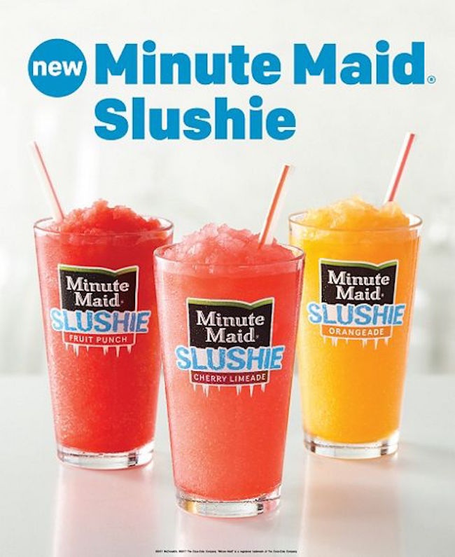 McDonald's Tries To Poach Sonic Fans With New Minute Maid 'Slushies'