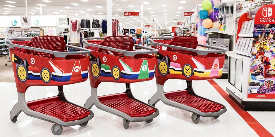 Target Encourages Store-Wide Mayhem With Mario Kart Shopping Carts