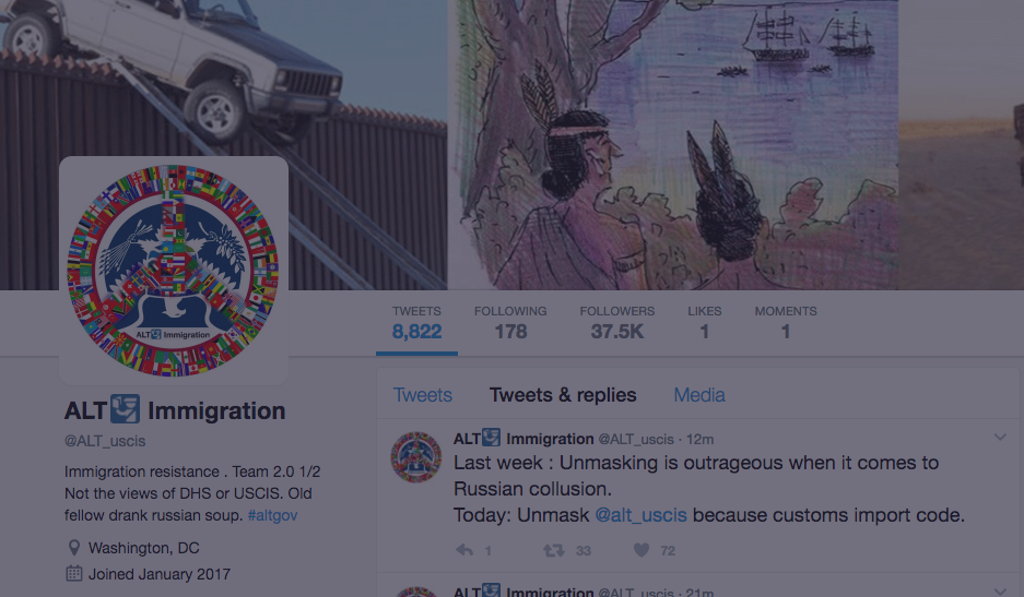 Twitter Fights Trump Administration's Attempt To Reveal Identity Of Critical 'Alt' Immigration Services Account
